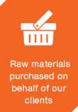 raw materials purchased on behalf of clients